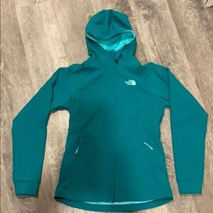 The North Face Womens Jacket Size S/P Green Hooded